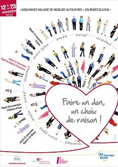 Affiche Journées du don 2012© Cpam de Paris