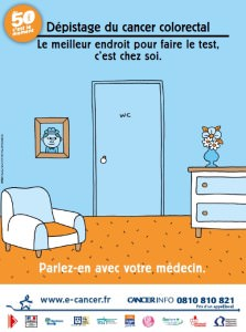 Affiche dépistage cancer colorectal