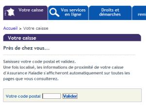 capture-votre caisse_ameli, ameli.fr
