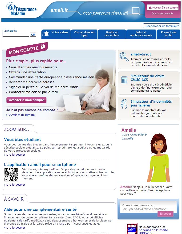 Ameli_Accueil assures new look, site ameli, ameli.fr