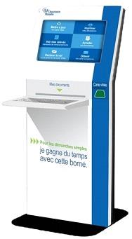 borne automatique multiservices_Assurance Maladie, bornes multi-services