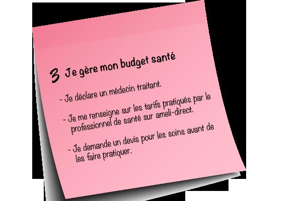 Résolution # 3, budget santé