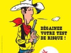 """Lucky Luke souffle son arme et invite à """"dégainer votre test de risque"""" pour dépister un diabète"""