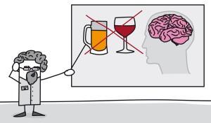 Professeur expliquant les dgts du cannabis et de l'alcool