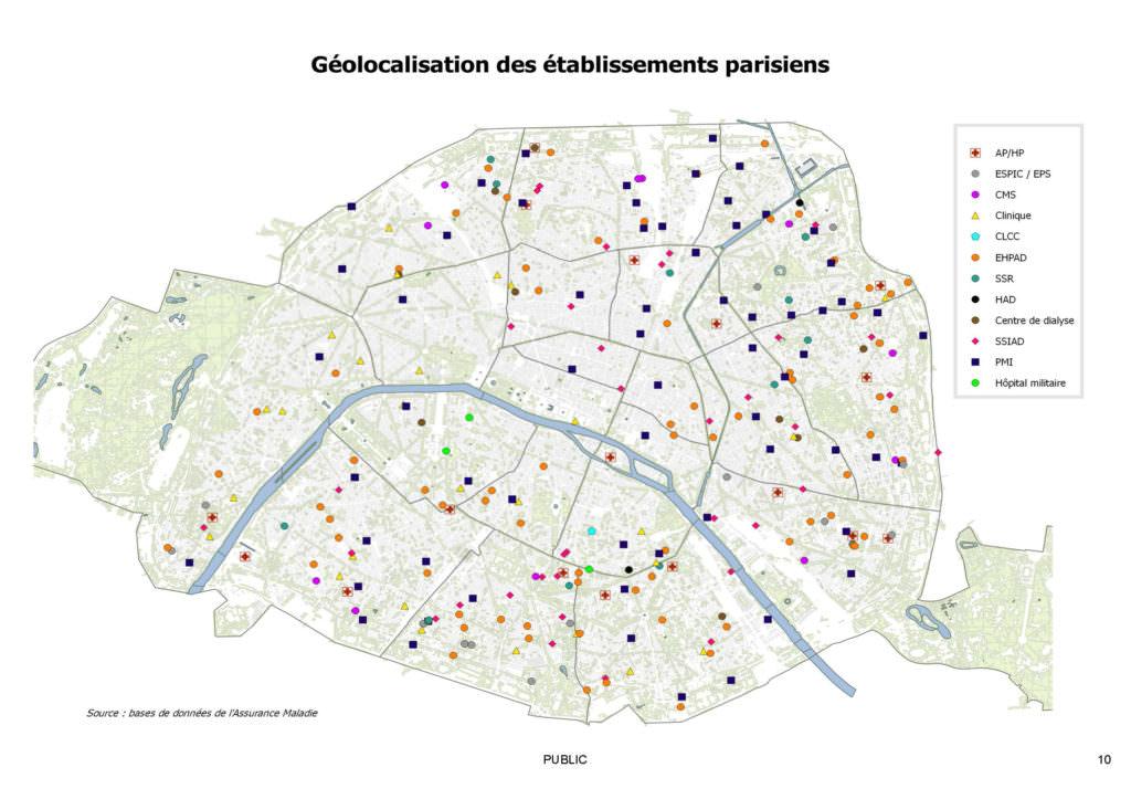 Demographie médicale_géolocalisation des établissements parisiens