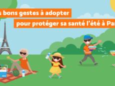 visuel conseils pour protéger sa santé l'été à Paris